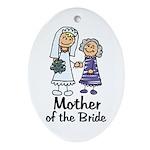 Cartoon Bride's Mother Oval Ornament