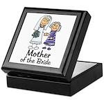 Cartoon Bride's Mother Keepsake Box