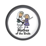 Cartoon Bride's Mother Wall Clock