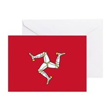 Flag of Mann Greeting Card