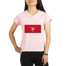 Flag of Mann Performance Dry T-Shirt