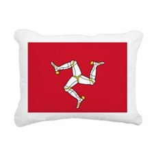 Flag of Mann Rectangular Canvas Pillow