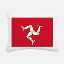 Flag of Mann Rectangular Canvas Pillow