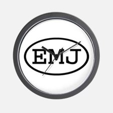 EMJ Oval Wall Clock