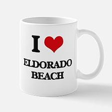 I Love Eldorado Beach Mugs