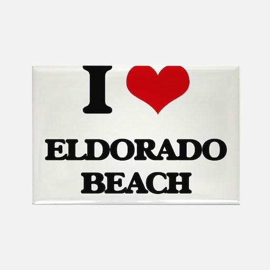 I Love Eldorado Beach Magnets