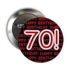 Happy 70th Birthday Button