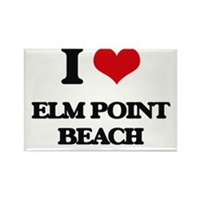 I Love Elm Point Beach Magnets