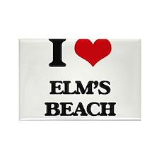 I Love Elm'S Beach Magnets
