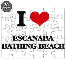 I Love Escanaba Bathing Beach Puzzle