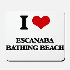 I Love Escanaba Bathing Beach Mousepad