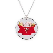 Isle of man ribbon Necklace Circle Charm