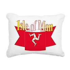 Isle of man ribbon Rectangular Canvas Pillow