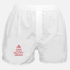 Keep calm you live in Falls City Oreg Boxer Shorts