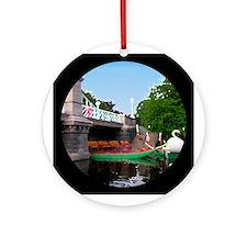 Public Garden (Watercolor) - Round Ornament