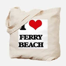 I Love Ferry Beach Tote Bag