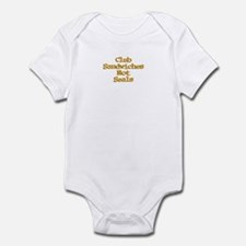 Club Sandwiches Not Seals! Infant Bodysuit