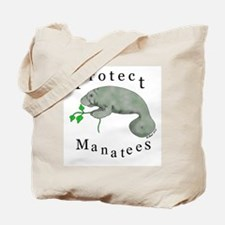 Protect Manatees Tote Bag