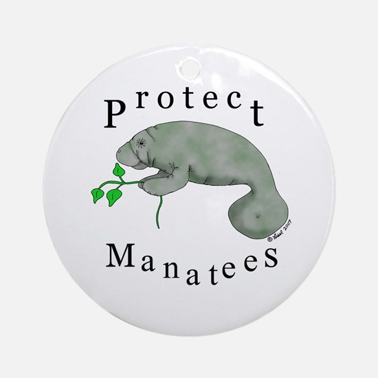 Protect Manatees Ornament (Round)