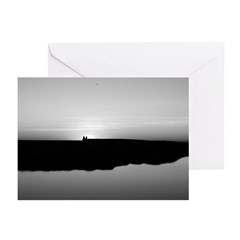 black+ white coastal photo Greeting Cards (6)