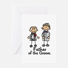 Cartoon Groom's Father Greeting Cards (Package of