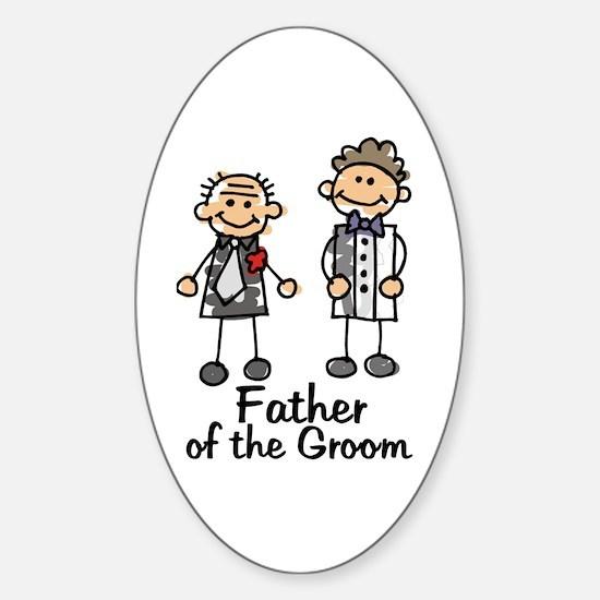 Cartoon Groom's Father Oval Decal