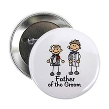 Cartoon Groom's Father Button