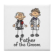 Cartoon Groom's Father Tile Coaster