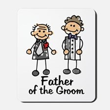 Cartoon Groom's Father Mousepad