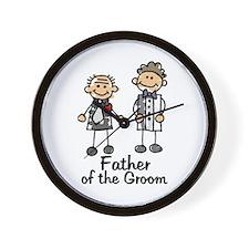 Cartoon Groom's Father Wall Clock