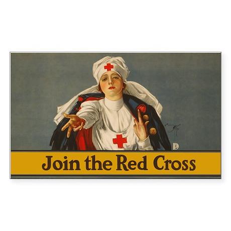 JOIN RED CROSS vinyl sticker