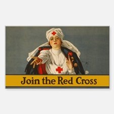 JOIN RED CROSS vinyl sticker