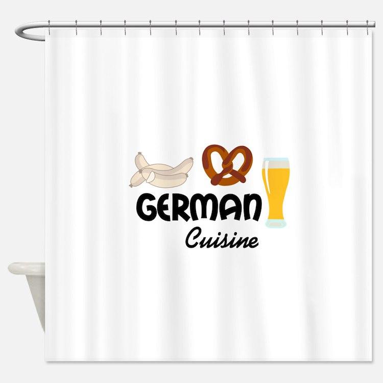 GERMAN CUISINE Shower Curtain