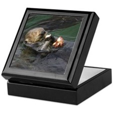 Otter Lunch Keepsake Box