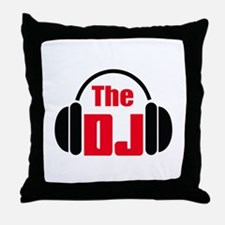 THE DISC JOCKEY Throw Pillow