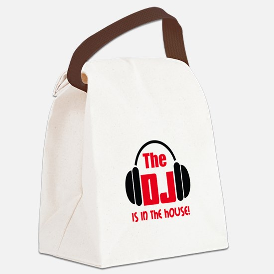 DJ IS IN THE HOUSE Canvas Lunch Bag