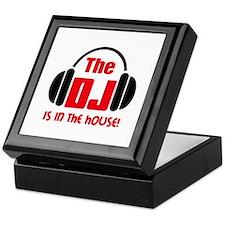 DJ IS IN THE HOUSE Keepsake Box