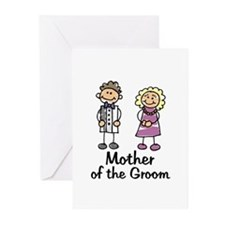 Cartoon Groom's Mother Greeting Cards (Package of