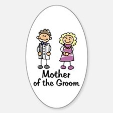 Cartoon Groom's Mother Oval Decal