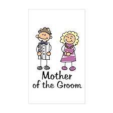 Cartoon Groom's Mother Rectangle Decal