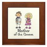 Cartoon Groom's Mother Framed Tile