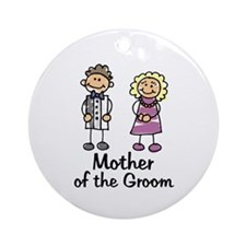 Cartoon Groom's Mother Ornament (Round)