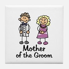 Cartoon Groom's Mother Tile Coaster