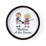 Cartoon Groom's Mother Wall Clock
