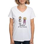 Cartoon Groom's Mother Women's V-Neck T-Shirt