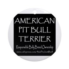 Responsible APBT Ornament (Round)