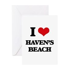 I Love Haven'S Beach Greeting Cards