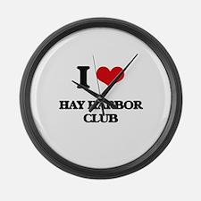I Love Hay Harbor Club Large Wall Clock