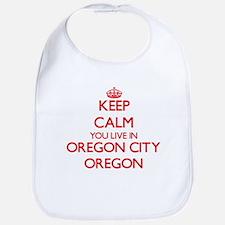 Keep calm you live in Oregon City Oregon Bib