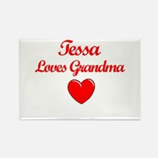Tessa Loves Grandma Rectangle Magnet